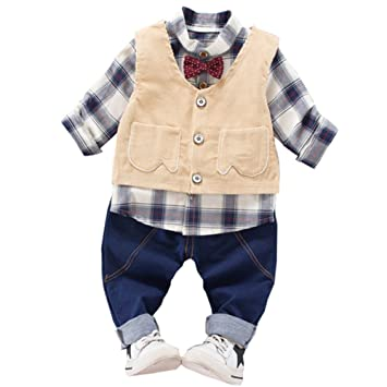 d51a6aceaf01b Emfay 男の子スーツ ベビー服 フォーマル スーツ ベスト 子供タキシード 初節句 出産祝い 卒園式 結婚