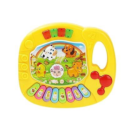 Buy 1pc Baby Piano Music Toy Farm Animals Pattern Piano