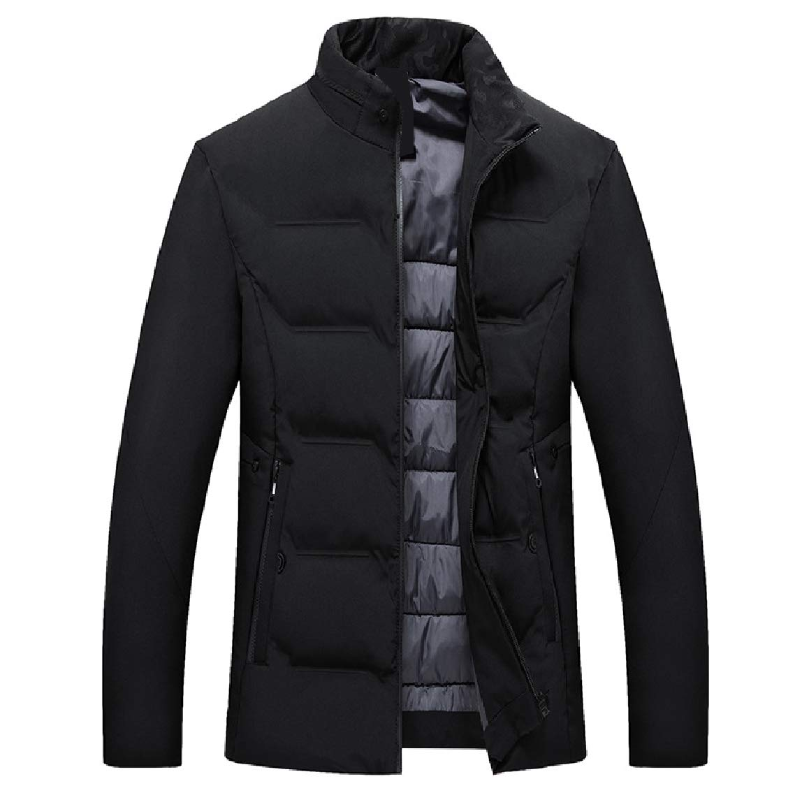 RingBong Mens Thick Business Winter Keep Warm Outwear Full-Zip Down Jacket