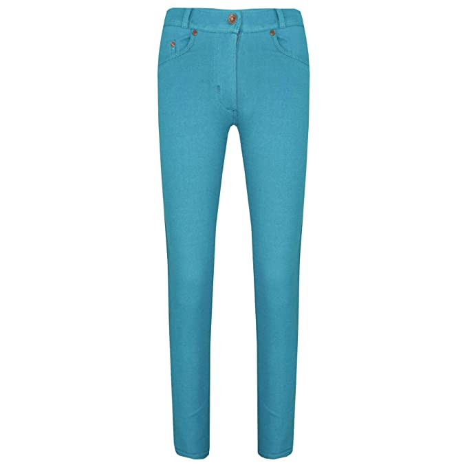 70a8a0584628d Amazon.com: Girls Skinny Jeans Kids Aqua Stretchy Denim Jeggings Fit Pants  Trousers 5-13 Yrs: Clothing