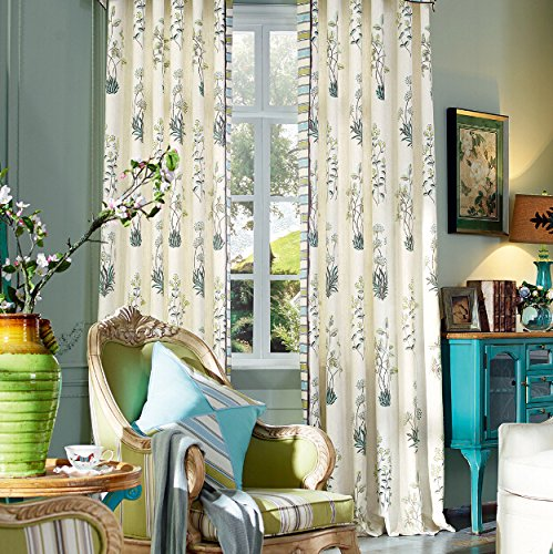 42W x 63L Multi Size Available Custom Country Rustic Print Floral Grommet Top Energy Efficient Window Treatment Draperies /& Curtains Panels Michele Home Fashion Set of 2 panels
