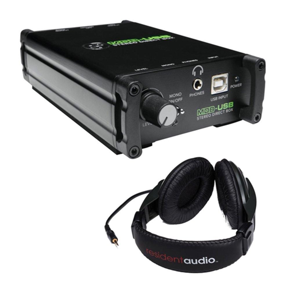Mackie MDB-USB Stereo DAC Direct Box with R100 Stereo Headphones (Black)
