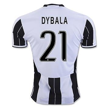 b29cc0ee226 2016 2017 Juventus FC Trikot 21 Paulo Dybala Home Football Soccer Jersey Kit  In Zebra  Amazon.ca  Books