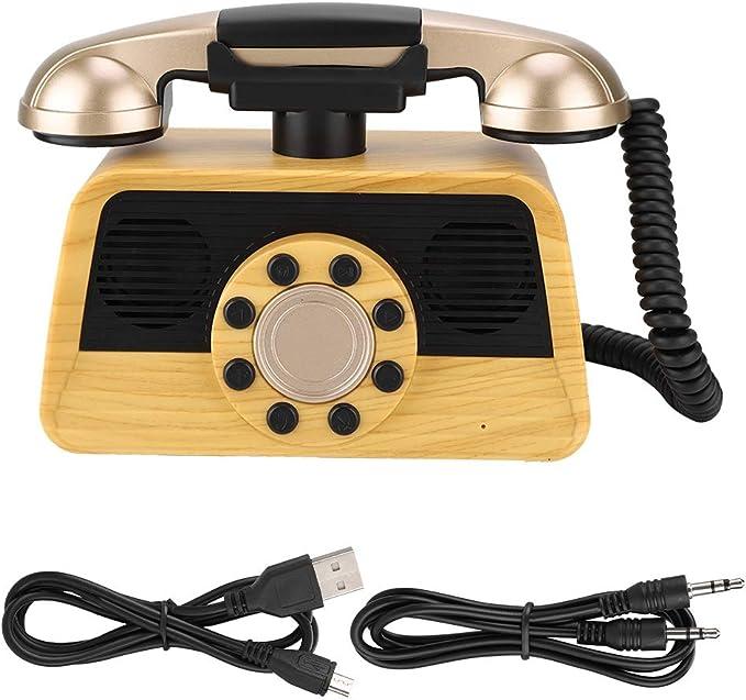 Sanpyl AS20 - Altavoz con Forma de teléfono Retro, Altavoz inalámbrico Bluetooth USB, decoración Elegante para el hogar: Amazon.es: Electrónica
