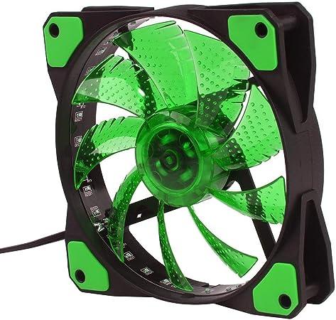 auoker 120 mm caso ventilador – Alta presión estática LED de 120 mm caso ventilador de refrigeración del radiador ...