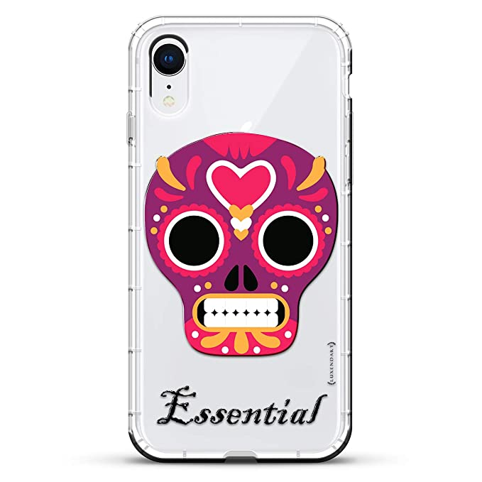 Essential Skull | Luxendary Air Series Clear Silicone Case with 3D printed design and Air-Pocket Cushion Bumper for iPhone XR (new 2018/2019 model ...