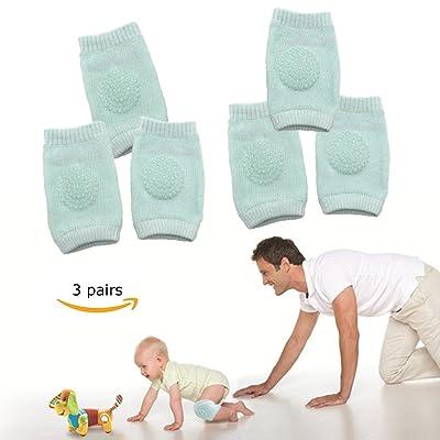 Baby Crawling Anti-Slip Knee pads, Toddlers Baby Kneepads Leg Sleeve Warmer 3 Pairs