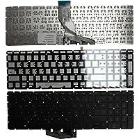 Keyboards4Laptops HP Pavilion 15-cd005la Retroiluminada Plata Windows 8 Layout Alemán Teclado de Repuesto para Ordenador portátil