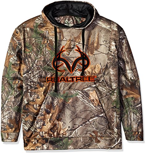 Realtree Polyester Camo Applique Fleece Top, Large, Xtra Camo