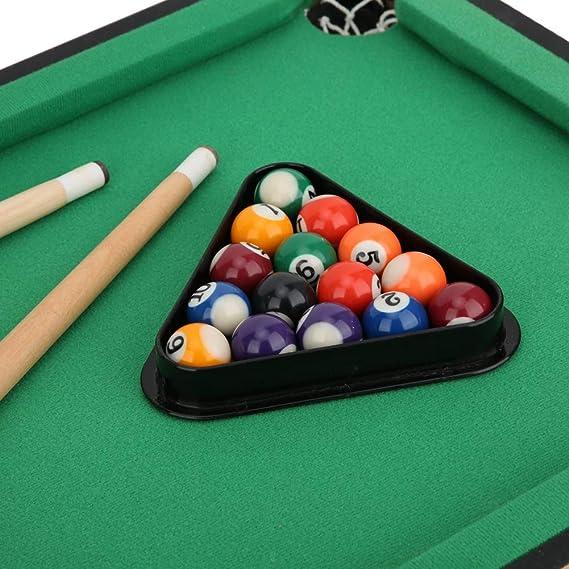 Alomejor Mini Table Top Pool Pool Billar Mesa Desktop Ball Billar Home Juego Niños Billar Mesa Interacción Bounce Bar: Amazon.es: Deportes y aire libre