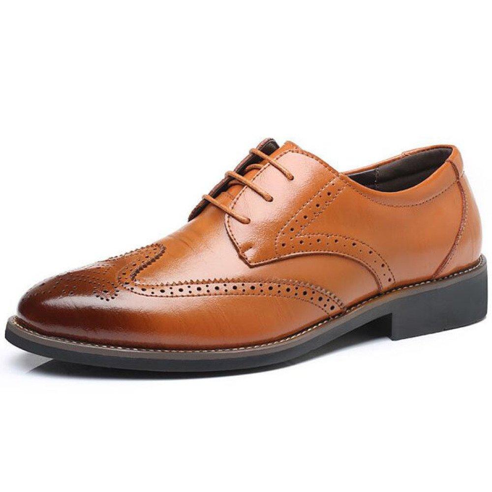 Männer Echtes Leder Schuhe Oxford Brogue Business Kleid Lace-up Kleid Schuhe Casual Hochzeit