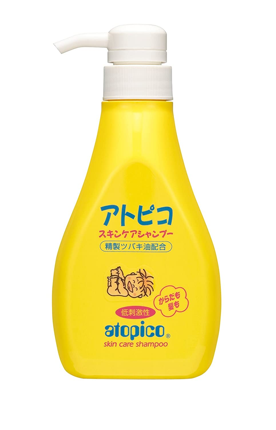 Japanese Atopico Baby Skin Care Shampoo with Camellia Oil - 400ml Pump