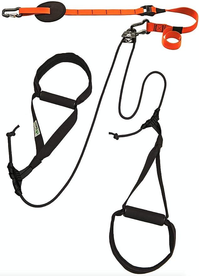 eaglefit Sling-Trainer Allround Elastic, Equipo de Fitness, Entrenador de Sling con polea, Ajuste de Longitud de 90-310 cm para Profesionales y ...