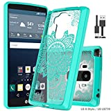 LG G Stylo case,LG LS770 case,LG G4 Stylus/ LG G Stylo H631/ LG G Stylo MS631 case with Micro USB 2.0,Wtiaw Acrylic Hard Cover With Rubber TPU Bumper Hybrid Ultra Slim Protective for LG LS770-YKL Mint