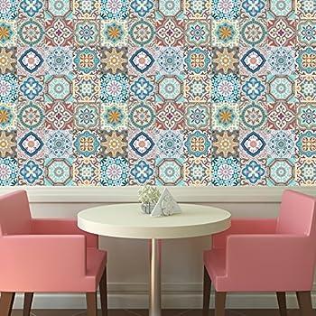 Amazon.com: BRIKETO Florencia Decorative Border Tile ...