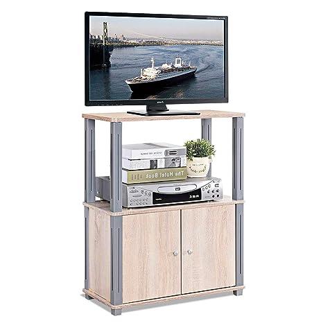 Porta Tv Da Mobile.Costway Mobile Porta Tv Mobiletto Da Tv Supporto Tv Per