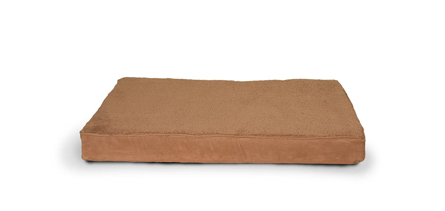 Furhaven Pet Terry & Suede Cooling Gel Top Memory Foam Mattress Pet Bed for  Dogs and