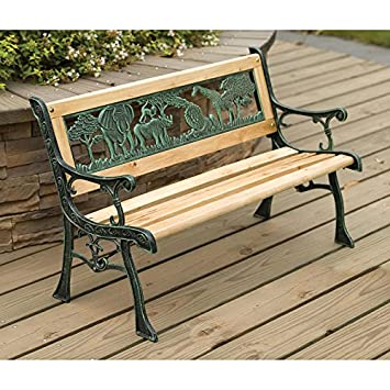 Awesome High Quality Kids Wooden Safari Bench