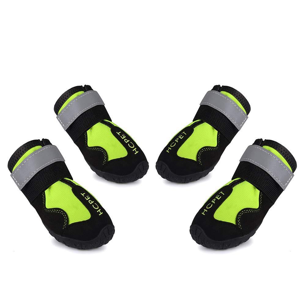 Green 7 Green 7 Pet shoes Dog shoes Waterproof Non-Slip Wear Resistant Big Dog shoes 4pcs