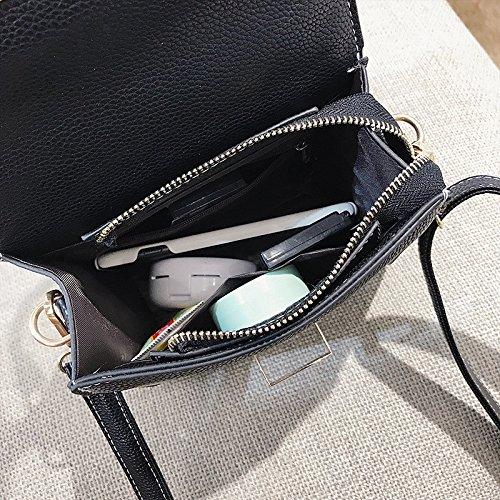 Contraste À Main Black À Rivet Bandoulière Sac Couleur Vert Sauvage Bandoulière Sac Mode Carré Meaeo qwzEt6nF