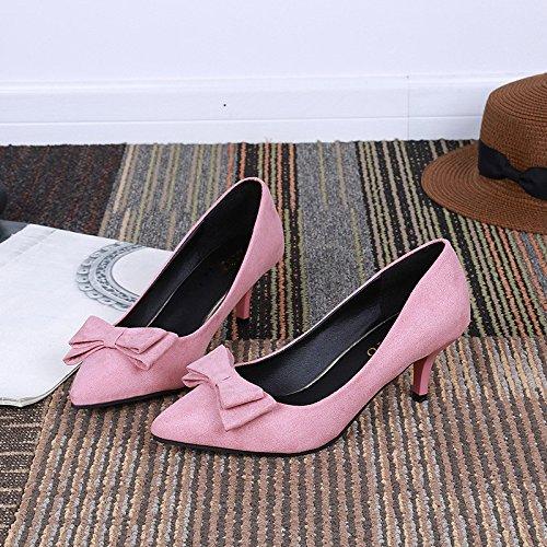 cinco tacon four KHSKX Thirty es y de de zapatos único verano más alto Nudo de mujeres de Pink dulce tacon Pink Treinta alto las tacon mariposa zapato Fashion qSWUq47p