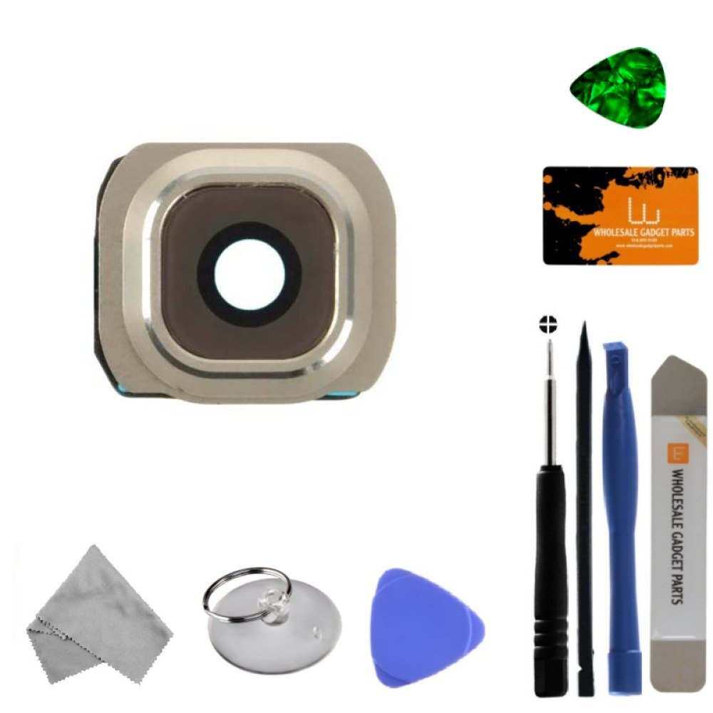 Camera Lens for Samsung Galaxy S6 (Platinum Gold) (Glass) with Tool Kit
