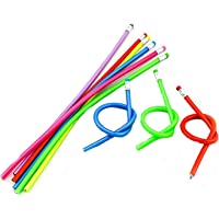 30 Pcs Colorful Flexible Pencils Magic Bendy Soft Pencil with Eraser Writing Gift for Kids Children School Fun Equipment