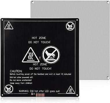 200/mm x 200/mm Plaque de verre borosilicate//lit W//plat poli Edge pour MK2/MK3/chauff/é Lit imprimante 3d
