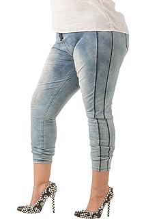 ddcdb9c4dde Poetic Justice Plus Size Curvy Women s Blue Knit Mineral Wash Denim Jogger  Pants