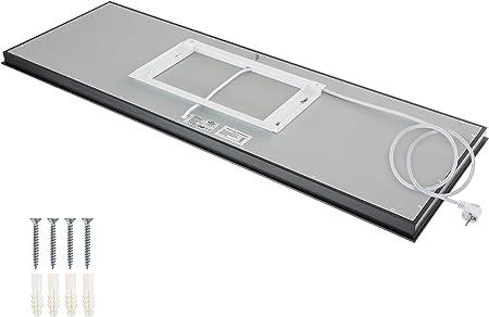 TecTake 800401 Spiegel Infrarotheizung Rückseite mit Wandhalterung