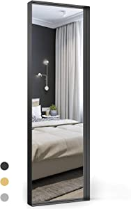 Upland Oaks Full Length Mirror for Floor & Wall in Bedroom – Seamless Metal Frame – Big & Tall Large Full Body Mirror – Leaner Mirror Size 65