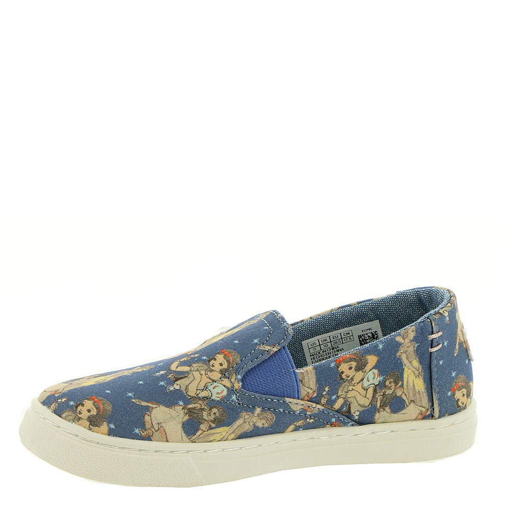 TOMS Girl's, Luca Slip on Shoes Blue 9 M by TOMS Kids (Image #4)