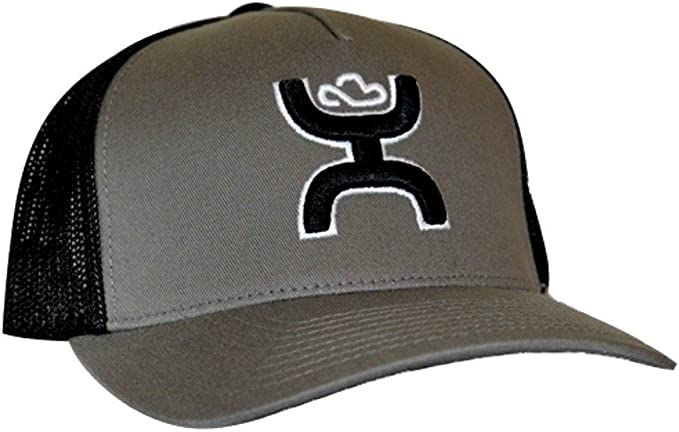 HOOey Coyote – Gorro Flexfit Gorra, Color Negro/Gris: Amazon.es ...