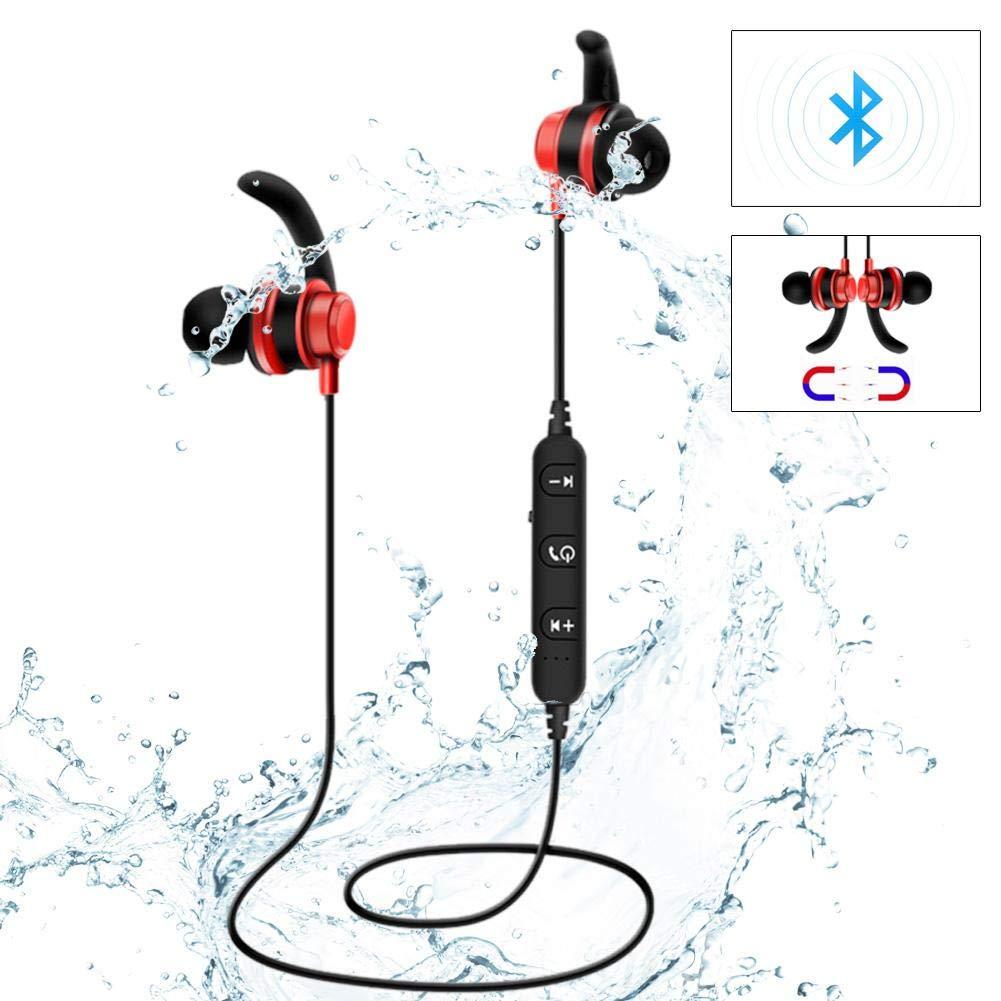 Funsquare Casque sans Fil de Sport, Dl-65 Sport sans Fil Sweat Proof Bluetooth Casque stéréo Casque téléphonique Universel Casque magnétique en métal