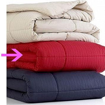 Home Design Bedding Mini Stripe Full / Queen Down Alternative Comforter Rio  Red