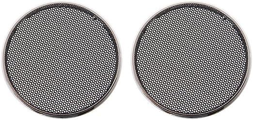 SimpleLife 1//2//3//4//5//6.5 Pulgadas Rejillas de Altavoz Funda Redonda Parrilla Protector C/írculo Decorativo C/írculo Decorativo Accesorios de Audio-ABS Negro
