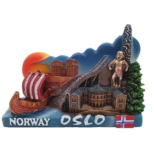 MUYU Magnet Oslo - Imán para Nevera con diseño de Noruega en 3D ...