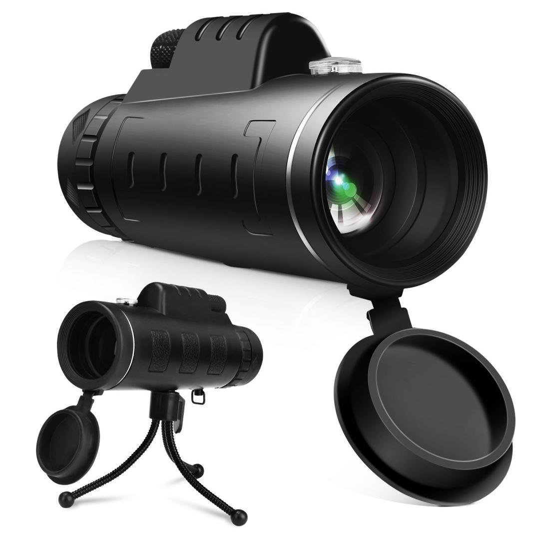Outdoor & Sports,Dartphew 1Pcs Dual Focus Monocular Telescope-40x60 High Power Lens-with Phone Holder-for Bird Watching, Hunting, Camping, Hiking, Outdoor, Surveillance(Cool Black)