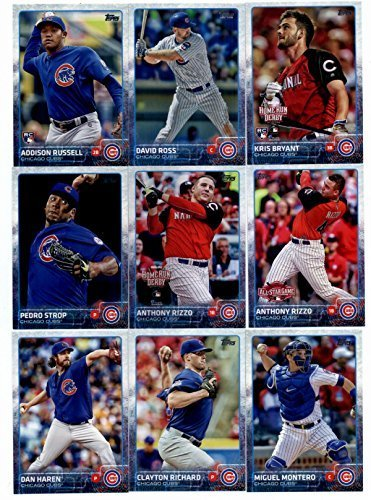 2015 Topps Baseball Cards Chicago Cubs Complete Master Team Set (Series 1 & 2 + Update - 35 Cards) With Kris Bryant Rookie (4 Different), Anthony Rizzo, Jorge Soler, Arismendy Alcantara, Starlin Castro, Junior Lake, Brian Schlitter Team Card & More