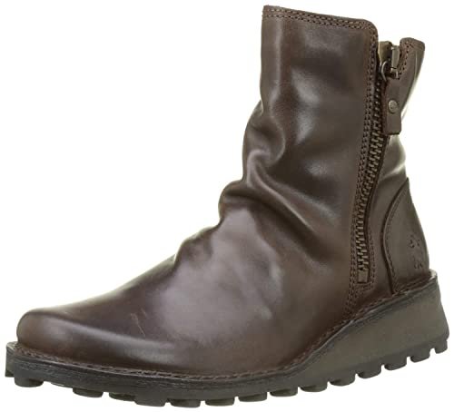 201da692 #Fly London Mong944fly Dark Brown Leather Womens Ankle Boots: Amazon.co.uk:  Shoes & Bags