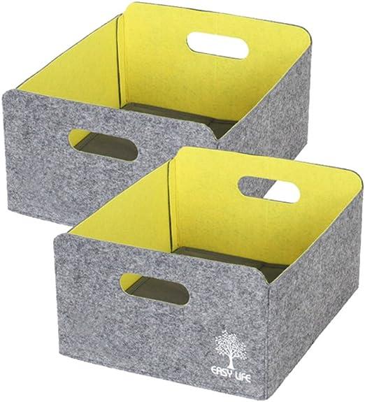 Caja de almacenaje de tela de fieltro misceláneas, Ropa ...