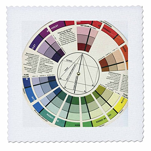 3dRose Color Wheel - Quilt Square, 8 by 8-Inch (qs_34643_3)