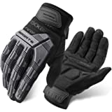 ROCKBROS Mountain Bike Gloves Dirt Bike Gloves Motorcycle Cycling Gloves with 6MM Gel Pad Touch Screen Knuckle…