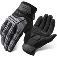 ROCK BROS Mountain Bike Gloves Dirt Bike Gloves Motorcycle Cycling Gloves with 6MM Gel Pad Touch Screen Knuckle…