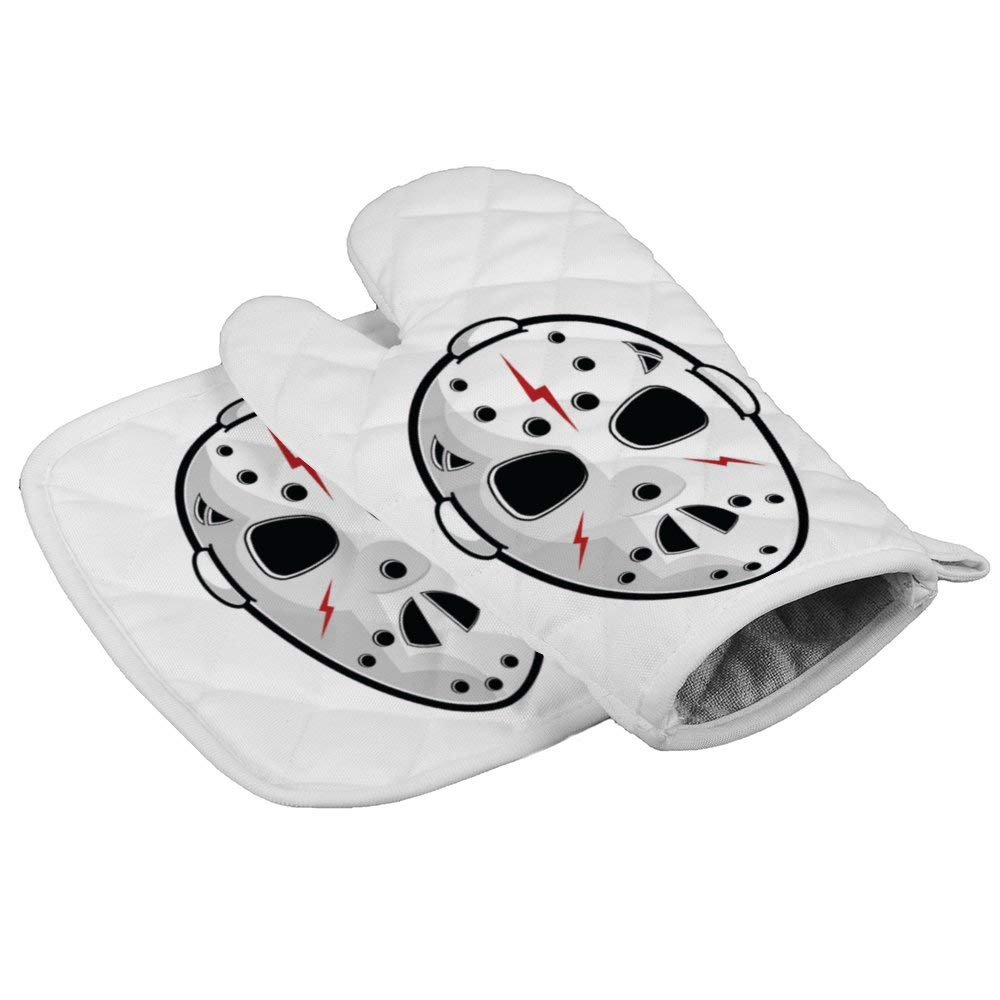 LijiahuaMitts Horror Mask Heat Resistant Oven Mitts and Pot Holders,Safe Kitchen Cooking Baking Grilling