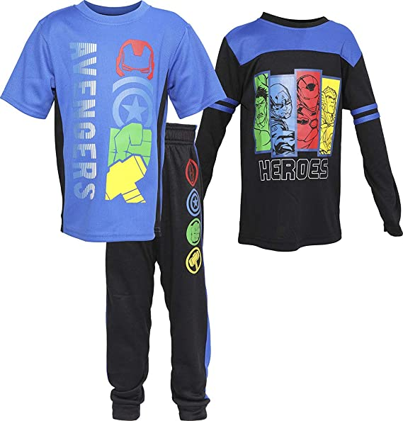 Toddler//Little//Big Boys Hind Boys Athleisure T-Shirt and Jogger Track Set 2 Full Sets