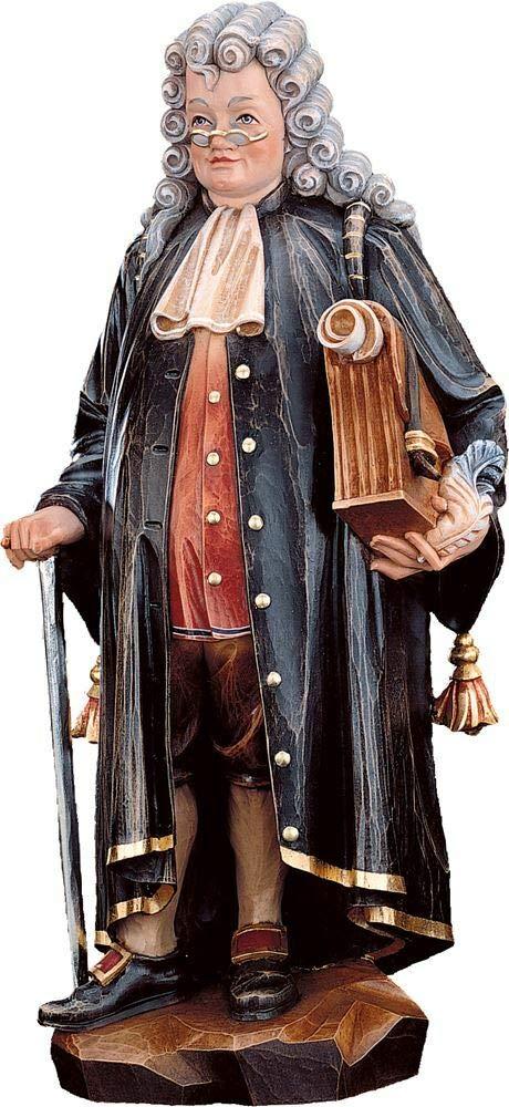 Holzschnitzerei Oswald Amort Jurist   18 cm   Natur - Unbemalt Farbe - mit  arben Bemalt 13 cm