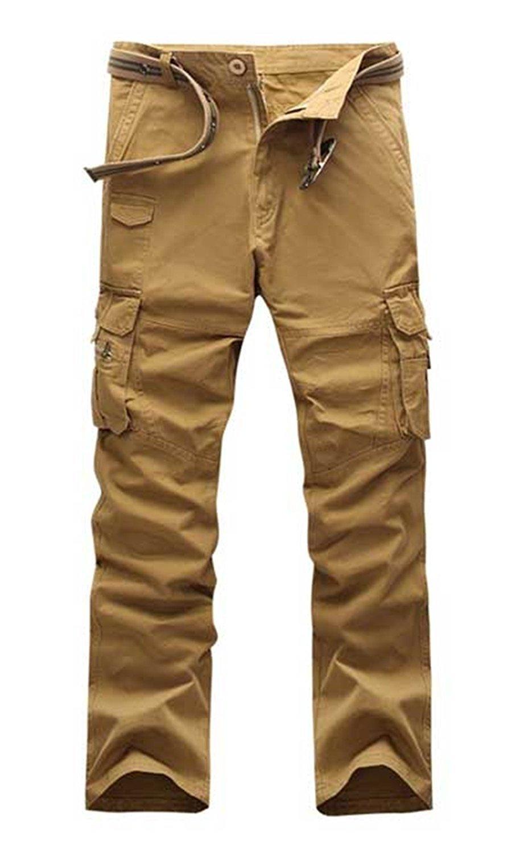 Toping Fine Pants Mens Fashion Pants Army Trousers 100% Cotton Pants Army Green Black Khaki Combat Military