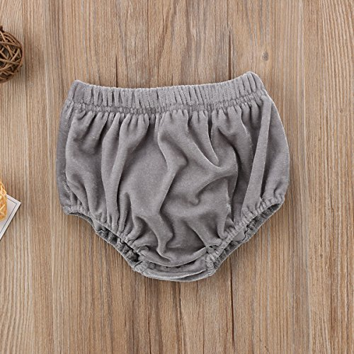 yongy Newborn Toddler Baby Boy Girls Bloomers Velvet Solid Color Diaper Covers Bloomers