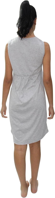 Parte Superiore in Batista e Parte Bassa della Camicia in Maglina di Cotone PRIMA Camicia da Notte in Puro Cotone Disponibile in Taglie calibrate.